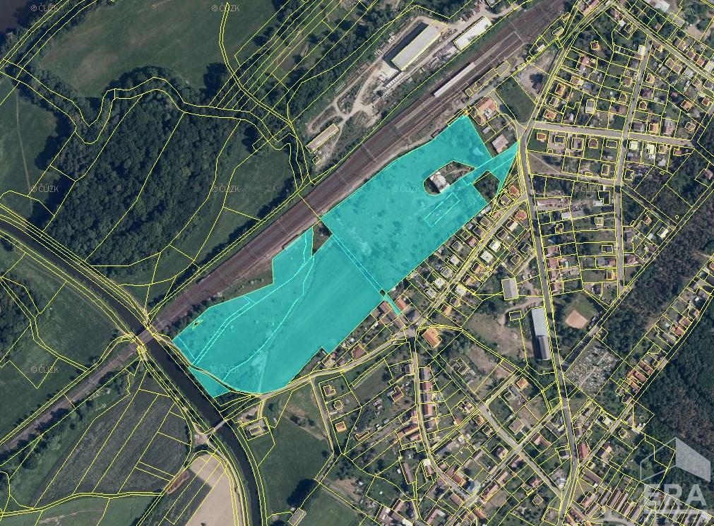 Prodej stavebního pozemku pro výrobní využití, 73.959 m2, Záboří nad Labem okr. Kutná Hora