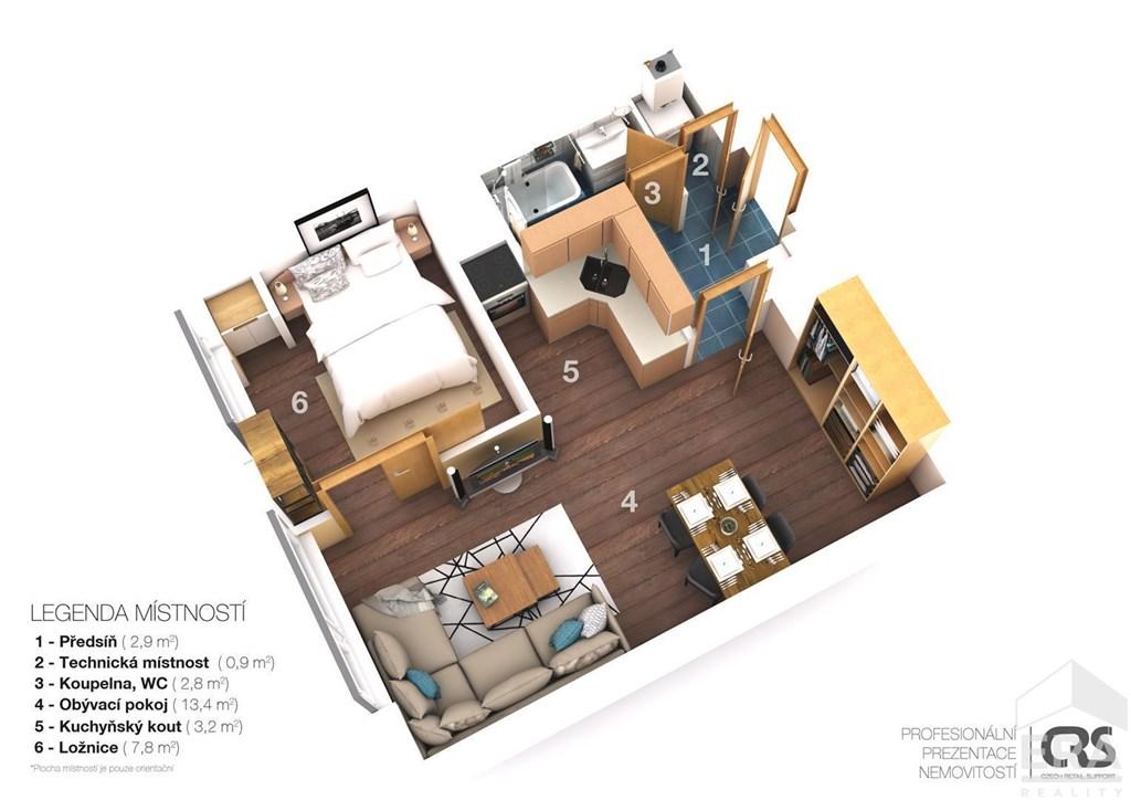 Prodej bytu 2+kk, 35 m2 + sklep 4m2, přímo u lesa Praha 4 Hodkovičky