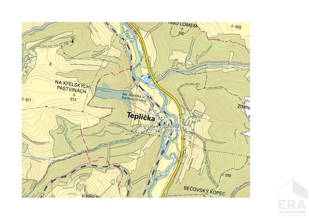 Lesní pozemky o rozloze 49 357 m2, Teplička u Karlových Varů