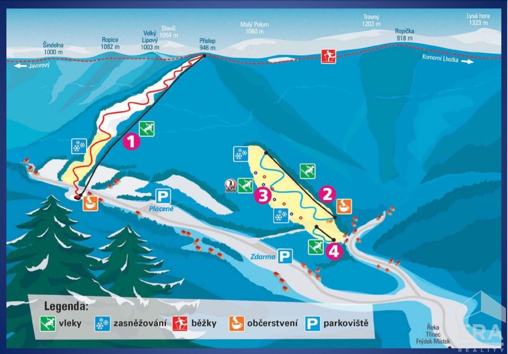 Prodej kompletního lyžařského areálu SKI-ŘEKA