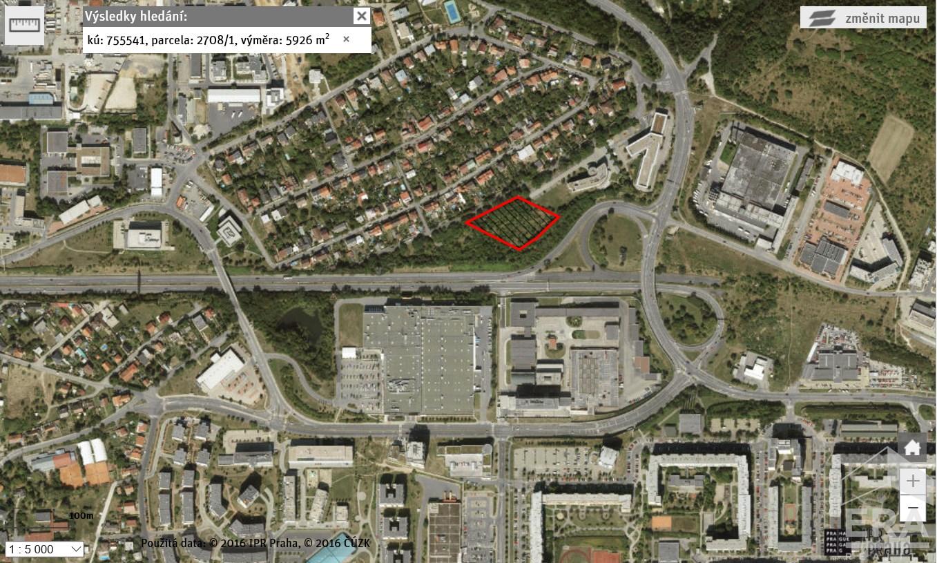 Prodej stavebního pozemku 5 926m2, Stodůlky