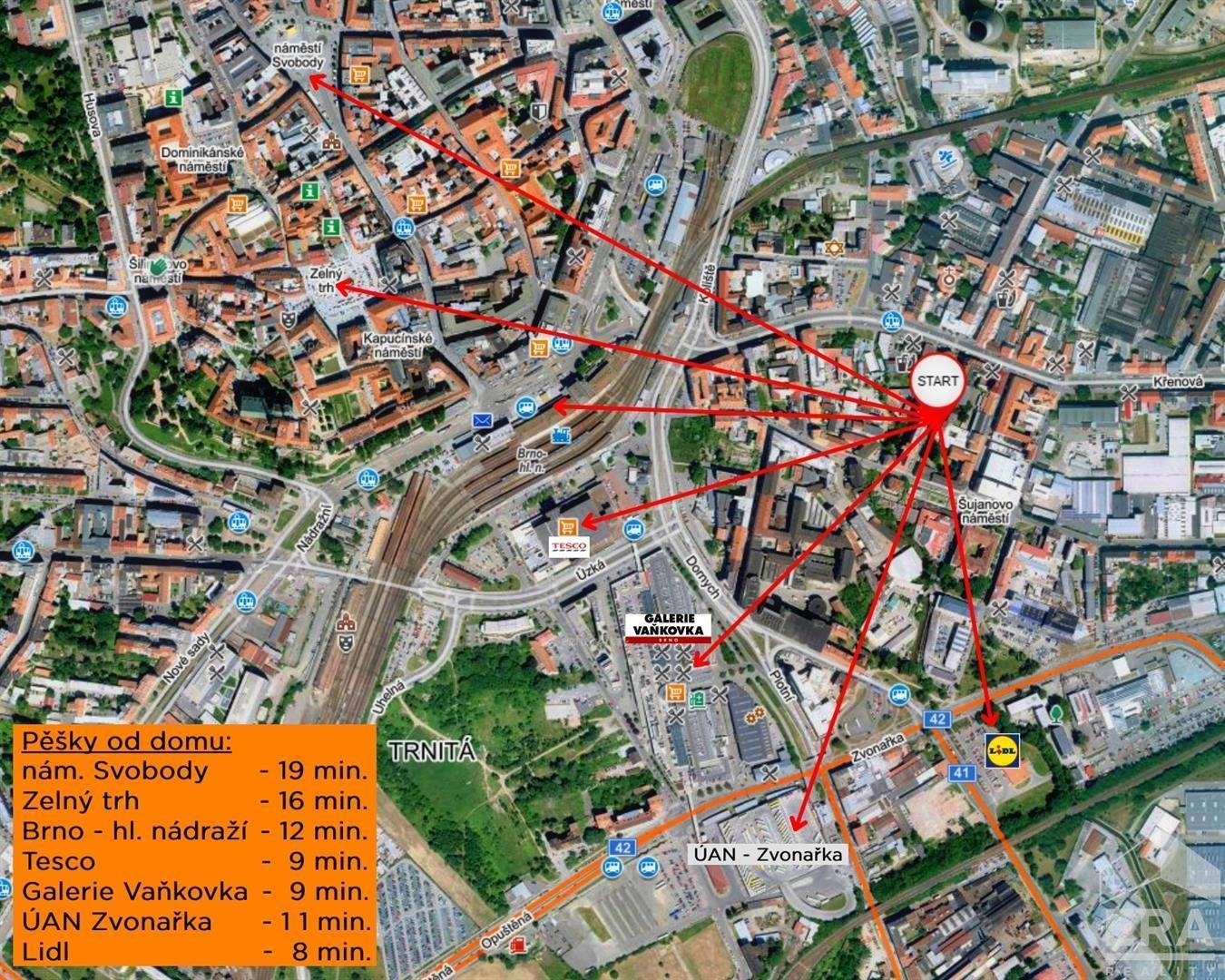Prodej bytu 1+kk, 36 m2, Štěpánská, Brno