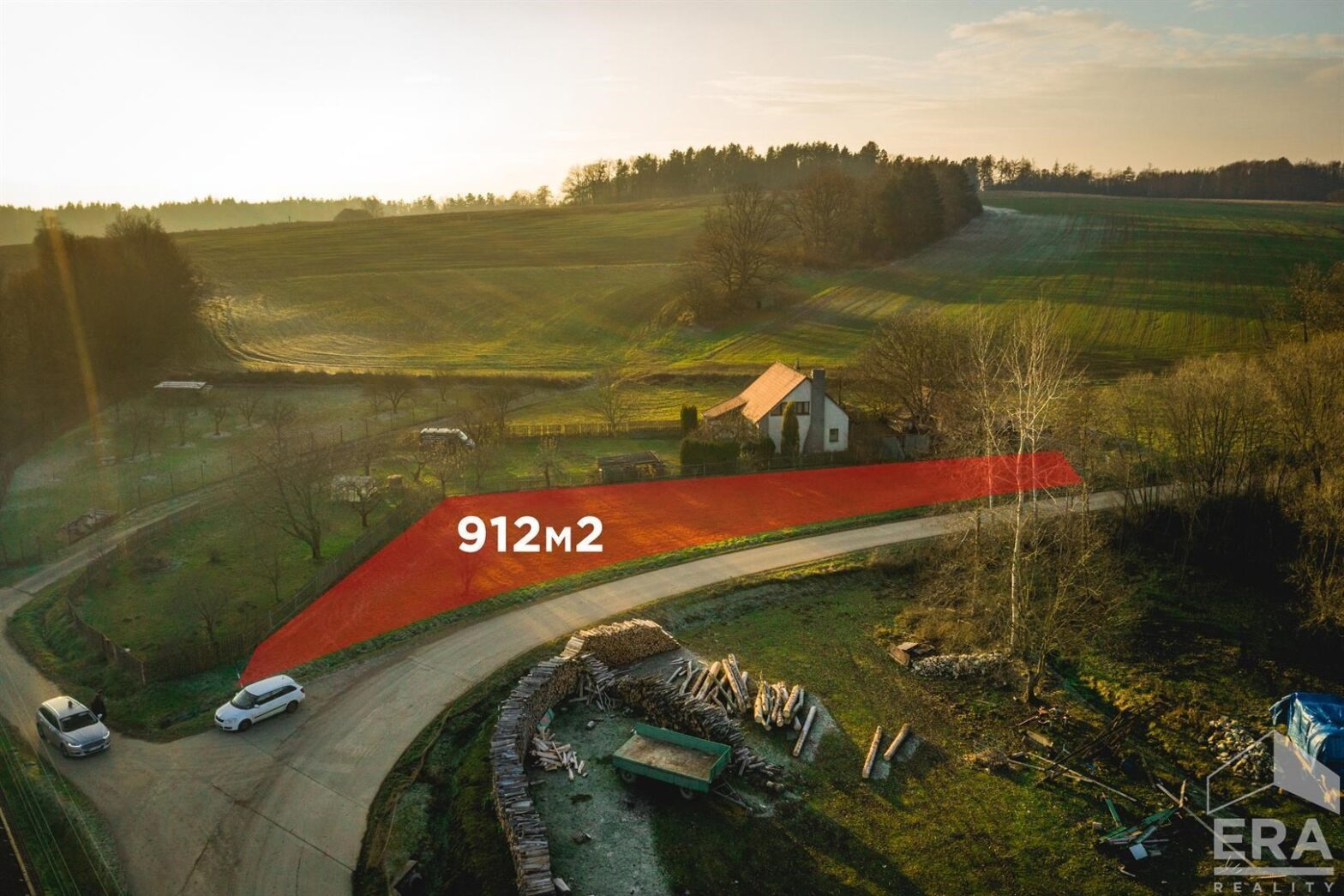 Prodej stavebního pozemku, 912 m2, Držkrajov