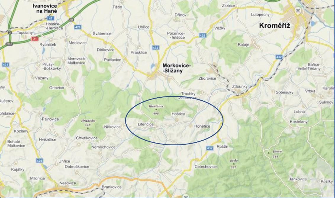 Prodej spoluvlastnických podílů na pozemcích okrese Kroměříž