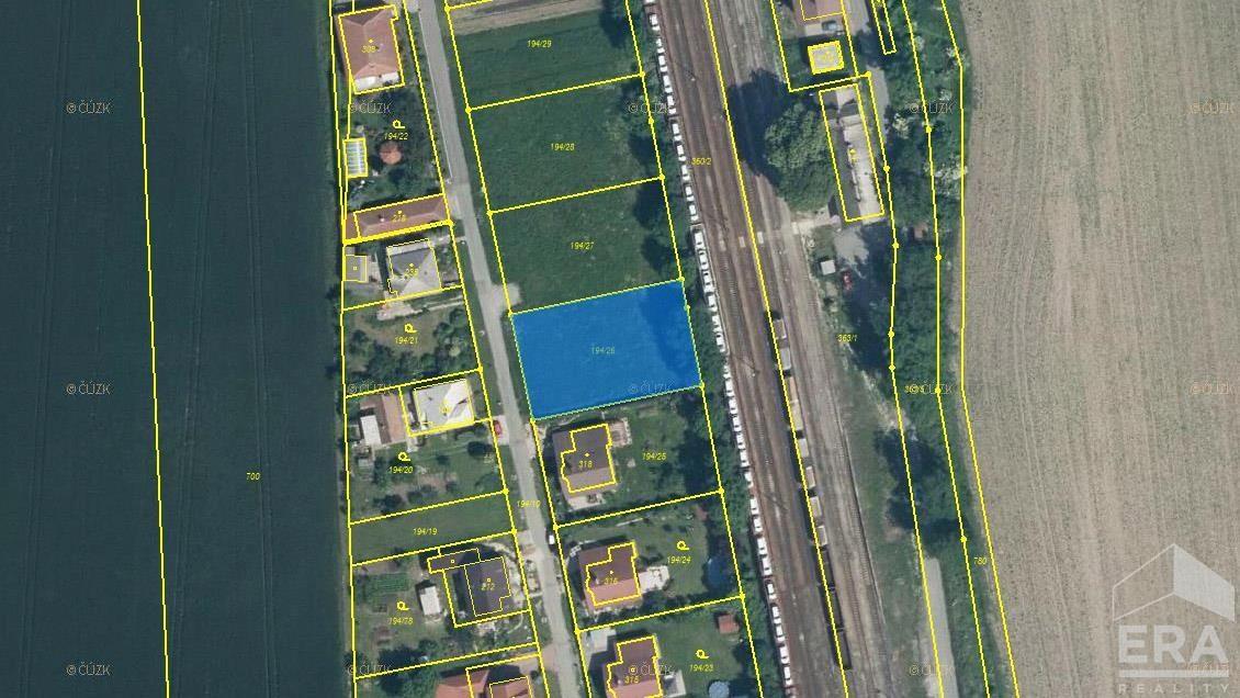 Prodej stavební parcely 1087 m2, Dvory – Veleliby okr. Nymburk
