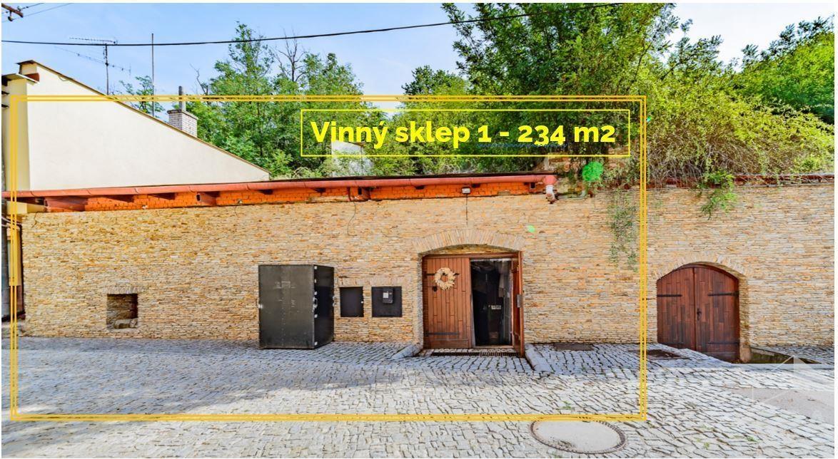 Vinný sklep 1, UP 232 m2 na pozemku 384 m2 * Znojmo