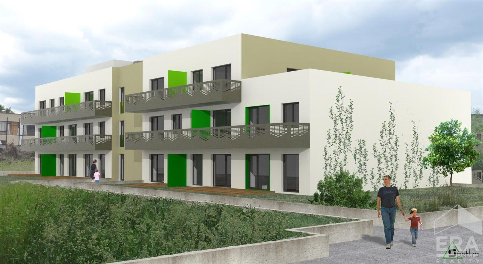 Prodej bytu 1+KK 38,1m2 s předzahrádkou a parkovacím místem v Berouně