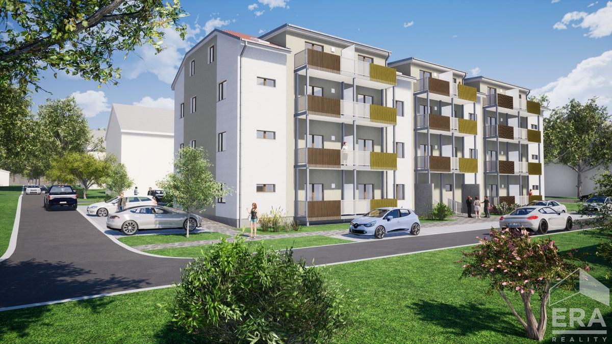 Prodej novostavby bytu 2+KK, s balkónem, 88,93 m2, Milovice – Rakouská