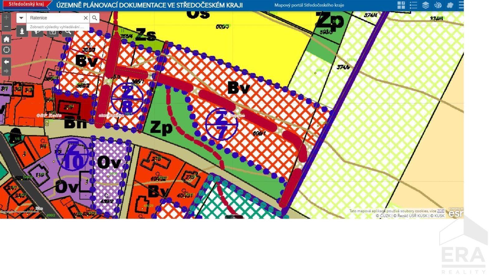 Stavební parcela Ratenice 11 111m2